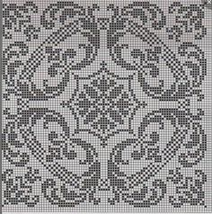 Filet Crochet Charts, Crochet Cross, Crochet Motif, Biscornu Cross Stitch, Cross Stitch Embroidery, Embroidery Patterns, Cross Stitch Designs, Cross Stitch Patterns, Crochet Tablecloth