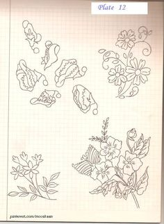 Floral  Motifs - single & bunched.  Plate #12