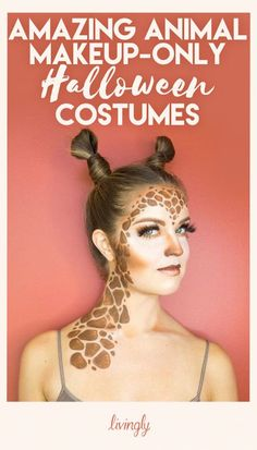 Amazing Animal Makeup Looks You Can Easily Rock This - From A Doe Eyed Deer To A Fierce And Colorful Peacock Just A Little Makeup Is All You Need To Transform Yourself Into Your Favorite Animal Check Out These Amazing Halloween Costume Ideas That Are Al # Costume Halloween, Halloween Fotos, Looks Halloween, Halloween Treats, Fall Halloween, Halloween Party, Halloween Face, Simple Halloween Makeup, Partner Halloween Costumes