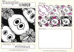 Kinder-My Tangle Pattern by molossus, who says Life Imitates Doodles, via Flickr