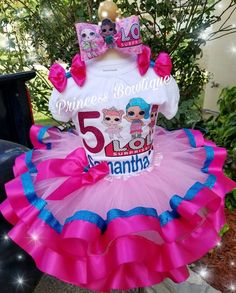 Birthday Party LOL Dolls for a girl's party Doll Birthday Cake, Mickey First Birthday, 5th Birthday Party Ideas, Surprise Birthday, Barbie Party, Doll Party, Bday Girl, Lol Dolls, Birthday Shirts