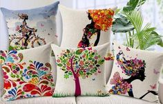 5 pcs/set Cotton Linen pillow cushion covers  from NewLook by DaWanda.com