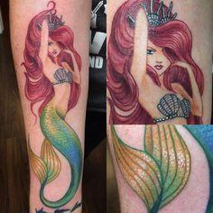 50 Lovely Mermaid Tattoos for Women - - sexy-arial-lovely-mermaid-tattoos Awesome examples & Ideas For those who love ocea - Tribal Tattoos, Tattoos Motive, Tattoos Geometric, Tattoos Skull, Body Art Tattoos, Tatoos, Octopus Tattoos, Mermaid Tattoo Designs, Mermaid Tattoos