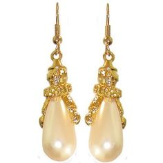 "1 1/2"" 80'S Vintage Clown Pearl Earrings In Gold: Jewelry: Amazon.com"