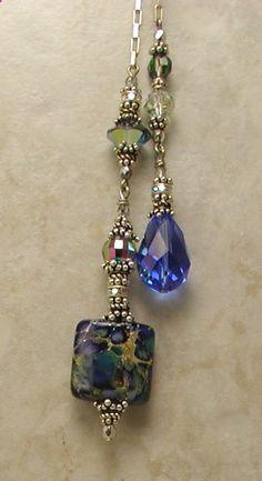 Artisan Blues Lariat Necklace