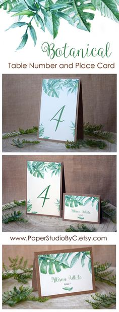 This Botanical Wedding Table Numbers and Place Cards are perfect to match with Greenery Wedding and Nature Wedding. Aren't adorable?! :) <3