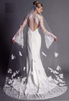 Vintage Lace Wedding Dresses Wedding Dresses( love the sleeves amd Vail