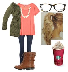 """""""It's freezing outside"""" by sweettoothegj ❤ liked on Polyvore featuring J Brand, Calypso St. Barth, J.Crew, Abercrombie & Fitch, Wild Diva and Ray-Ban"""