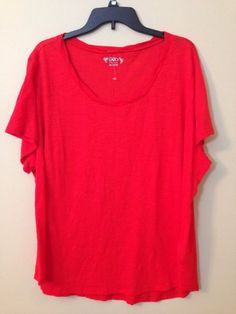 578eb1804aa CATO WOMAN TOP TEE T SHIRT PLUS SIZE 26 28W 22 24W RED GREEN LIME NWOT