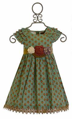 Mustard Pie Party Dress Green Delphine (Size 24Mos)