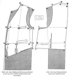 Deriving a waistcoat from the coast pattern (menswear)
