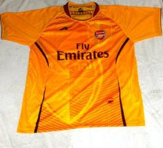 """MENS ARSENAL SOCCER JERSEY SIZE LARGE- GREAT COLOR by AGMAR. $21.99. 100% POLYESTHER. SHIPS FAST. GREAT COLOR. GREAT GIFT. GREAT QUALITY AND DESIGN. ARSENAL SOCCER JERSEY YOU MUST ADD THIS ONE TO YOUR COLLECTION !!!! SIZE USA LARGE 22""""ARMPIT TO ARMPIT BY 29"""" FROM NECK TO BOTTOM. THIS JERSEY IS AWESOME. GREAT DETAILS. COLLECTORS ITEM. MADE DURABLE, BREATHABLE POLYESTER (100%). EMBROIDERY SOCCER TEAM LOGO. NO NAME OR NUMBER ON BACK OF THE JERSEY. THIS JERSEY HAS A..."""
