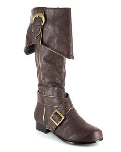 Mens Deluxe Brown Pirate Boots - Pirate Costumes I want to steampunk these!