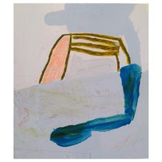 Elbows On the Table, acrylic, oil stick, crayon on paperboard, 2015. Sarah Boyts Yoder