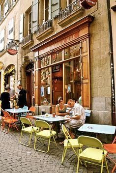 Cafe De L' Hotel De Ville..Switzerland..