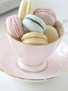 You don't need a fancy bakery and a view of the Eiffel Tower to enjoy macarons. You can make these beautiful pastel versions—ideal for Easter dessert—right at home. Get the recipe at Passion for Baking.   - CountryLiving.com