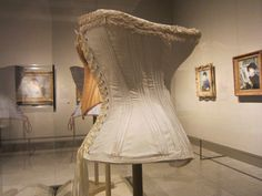 """Corsets in """"Impressionism, Fashion, and Modernity"""", opening February 26 at the Metropolitan Museum of Art. @Kori"""