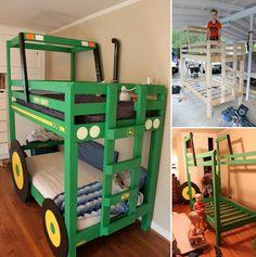 DIY Tractor Bunk Beds - http://www.ikeadecoratingideas.com/decoration-tips/diy-tractor-bunk-beds.html
