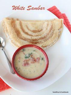 Sandhiya's Cookbook: White Sambar | Breakfast Sambar | Side dish for idly & dosa