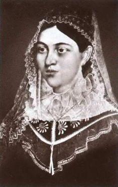 Фантастические изображения царицы Евдокии Лопухиной, выдававшиеся за подлинные в XIX веке- портрет из Суздальского Покровского монастыря