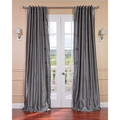 @Overstock.com - Storm Grey Vintage Faux Textured Dupioni Silk Curtain Panel - Elegant and sophisticated, this textured silk curtain panel brings a touch of elegance to any living area. The energy saving, 100 percent polyester construction is complemented by the curtain panels gorgeous, medium storm-gray color.  http://www.overstock.com/Home-Garden/Storm-Grey-Vintage-Faux-Textured-Dupioni-Silk-Curtain-Panel/6298113/product.html?CID=214117 $62.99