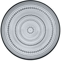 Iittala Kastehelmi Plate, 10.5 ($53) ❤ liked on Polyvore featuring home, kitchen & dining, dinnerware, grey, glass dinnerware, gray plates, grey plates, gray dinnerware and iittala dinnerware