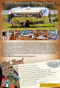 A beautifully restored, and remodeled in a non-kitchy design Airstream? Oh, yes, please!