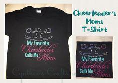 Custom Made Cheerleader's Mom T-shirt  Starting at $25 each  #shoplocal #grouptshirt #cheerleader #cheerleading #cheermom #mom #cheer #tshirt #glitter #custommade #cheerleadingtshirt #cheersquad @cheerpaparazzi @insidecheer