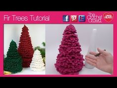 Crochet 1 of 3 Sizes of Crochet Christmas Trees for the holidays. Perfect sizing for hospital night stands, small apartments and other cool decorative ideas....