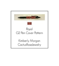 Royal A G2 Pen Cover Pattern | Craftsy