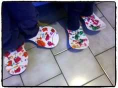 chaussures de clown, cirque, carnaval, bricolage enfant