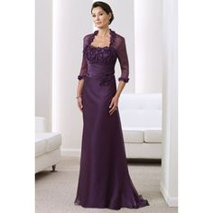 Popular Applique Ruched Waist Mother of the Bride/ Groom Dresses with Jackets