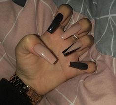 top awesome coffin nails design 2019 you must try 4 ~ thereds.me top awesome coffin nails design 2019 you must try 4 ~ thereds. Summer Acrylic Nails, Cute Acrylic Nails, Acrylic Nail Designs, Long Nail Designs, Halloween Acrylic Nails, Black Nail Designs, Short Nails Acrylic, Clear Nail Designs, Square Acrylic Nails