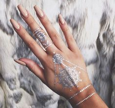 Festival Summer Beach Boho Golden/Silver Metallic Flash Tattoo Set (3 pcs) – Lupsona