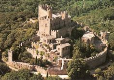 Castle of Requesens - Catalonia,Spain. - Probably existing since the 9th century,  mentioned for the first time  in the 11th century.  In the 19th century, the  old Romanesque ruined castle was rebuilt in Neo-Romanesque style. The castle was extensively used after the Spanish Civil War (1936–1939), when some modern constructions were added to the original structure.