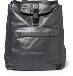 LanvinLeather and Nylon Backpack and Tote|MR PORTER