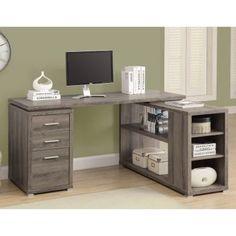 Monarch Reclaimed-Look Left or Right Facing Corner Desk - Desks at Hayneedle