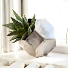 Metal Planter. Handmade; cut and welded from steel.   thebhivecreations.com