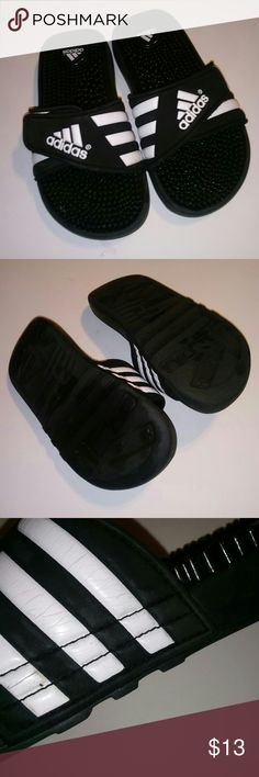eb2a5a63fa43 Adidas Flip flops Gently used Adidas flip-flops with Dural cushion micro  beads in great condition for the price adidas Shoes Sandals   Flip Flops