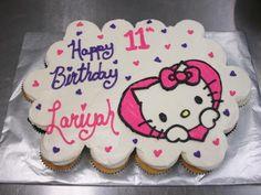 Hello Kitty Birthday Cupcake Cake