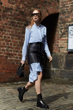 COPENHAGEN FASHION WEEK STREET STYLE: SPRING 2017  layering outfit of the day