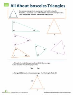 introduction to isosceles triangles isosceles triangle worksheets and geometry worksheets. Black Bedroom Furniture Sets. Home Design Ideas