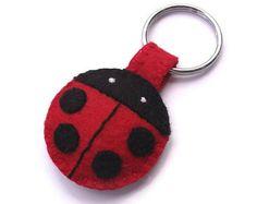 Felt pawprint keychain brown paw key ring plush cat paw dog