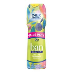 Ban Powder Fresh Roll-On Deodorant 3.5 oz Twin Pack