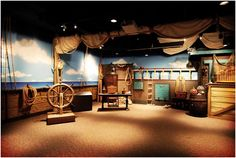 Boat themed room from Jesus calming the storms