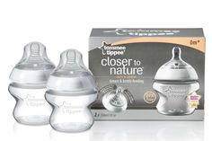 Tomme Tippee Closer to Nature 2 biberones y Tetina Avent Baby Bottles, Glass Baby Bottles, Bottles For Breastfed Babies, Baby Bottle Sterilizer, Bottle Picture, Bottle Images, Closer To Nature, Bottle Feeding, Baby Feeding