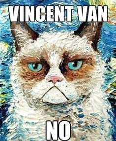 I love this painting...Grumpy Cat makes it so much better!