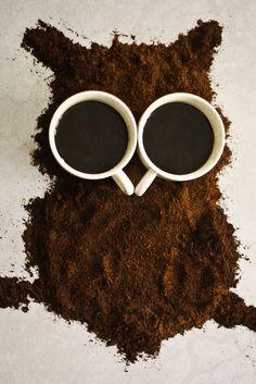 Eulen-Content von Leuten mit Kaffeedurst