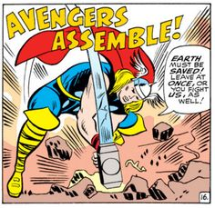 Avengers Assemble! Thor & Captain America by Don Heck