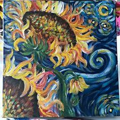 Van gogh sunflowers zonnebloemen, leuke how to paint tutorial door the art sherpa